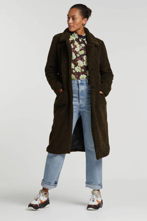 imitatiebont coat donkergroen