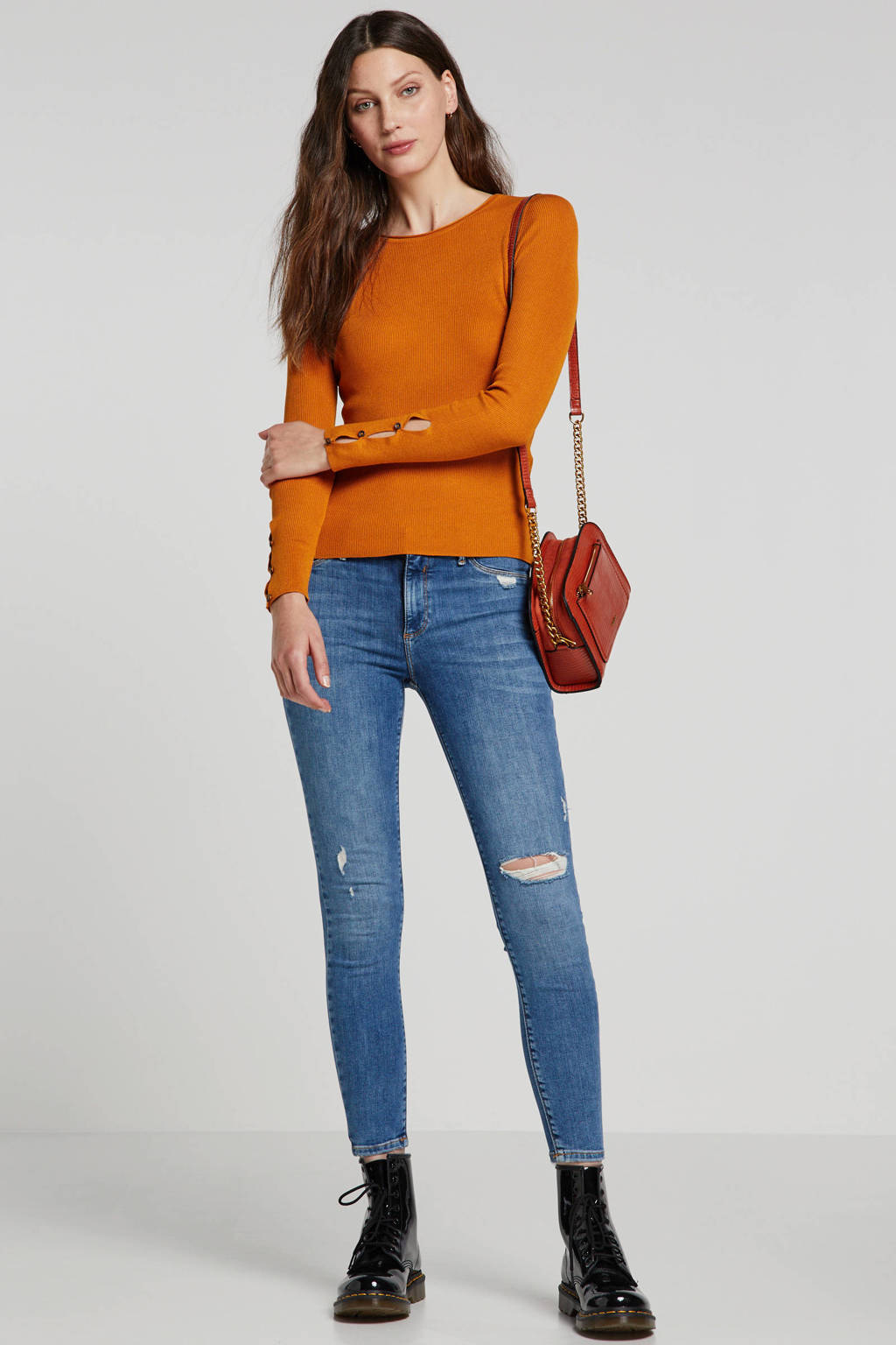 River Island Molly mid rise skinny jeans, Blauw