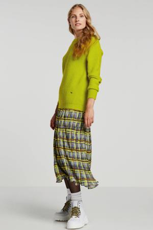 geruite plissé rok multicolor