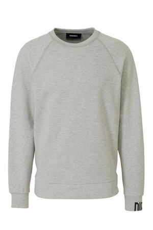 sweater met grafische print lichtgrijs
