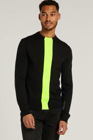 gestreepte trui zwart/geel