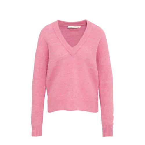 Inwear gebreide trui met wol roze