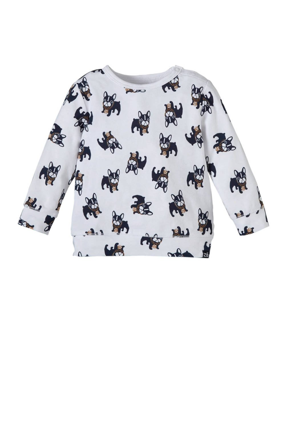 Z8 longsleeve Texas met all over print wit, Wit