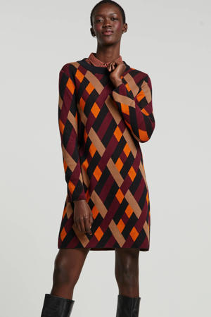 jurk met all over print multi