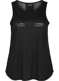 ACTIVE By Zizzi Plus Size sporttop zwart, Zwart