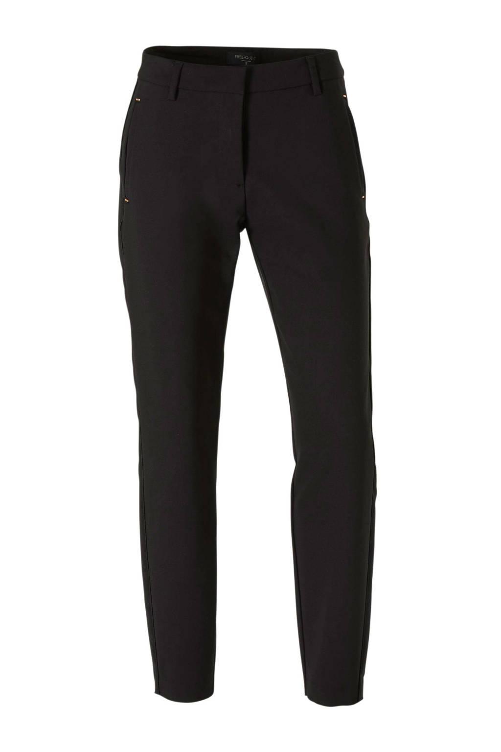 FREEQUENT tapered fit pantalon zwart, Zwart