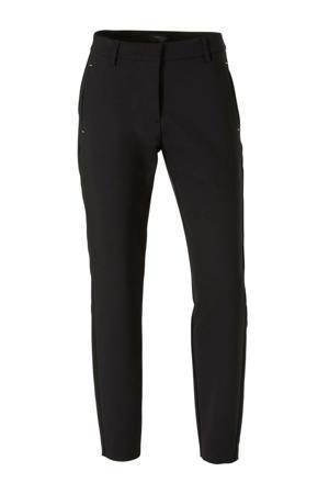 tapered fit pantalon zwart