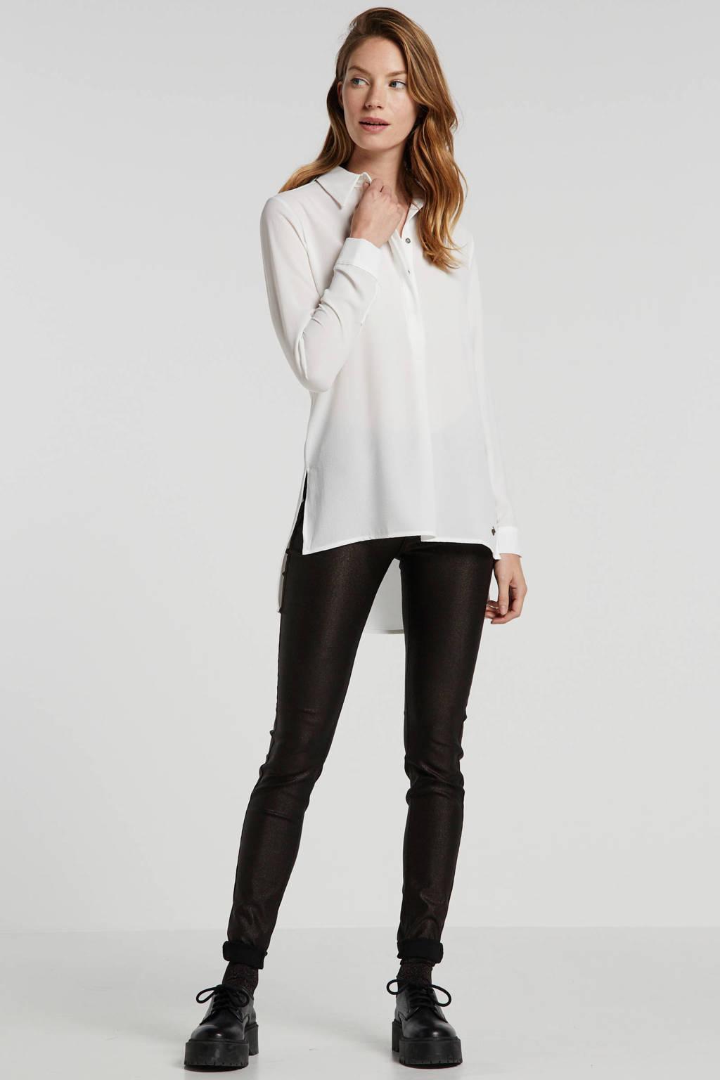 FREEQUENT high waist skinny broek zwart/goud, Zwart/goud