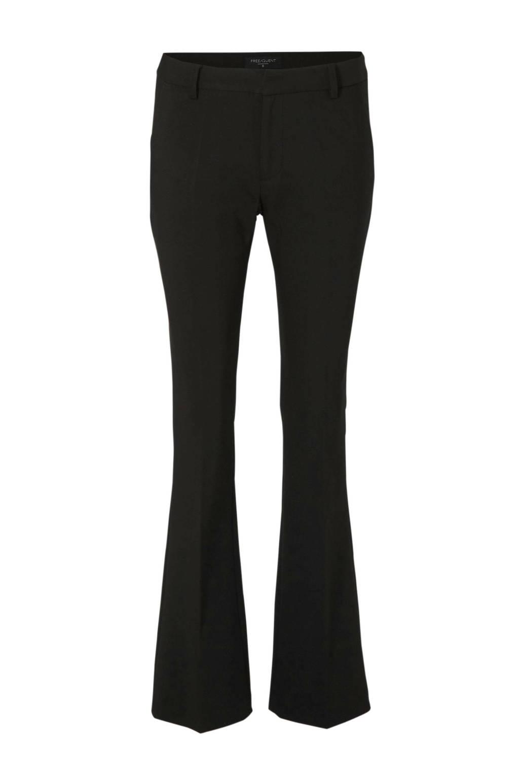 FREEQUENT straight fit pantalon zwart, Zwart