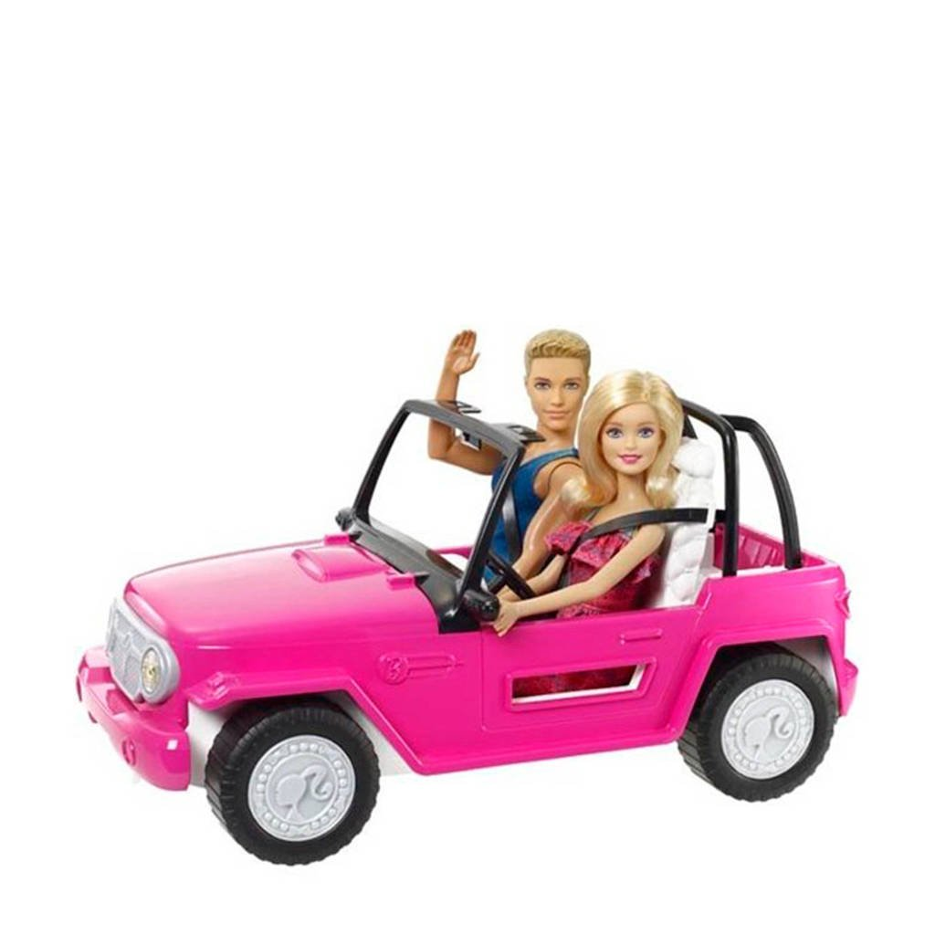 Barbie Beach Cruiser auto met Ken & Barbie