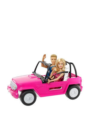 Beach Cruiser auto met Ken & Barbie