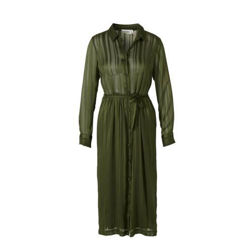 Another Label semi transparante blousejurk met glitters groen