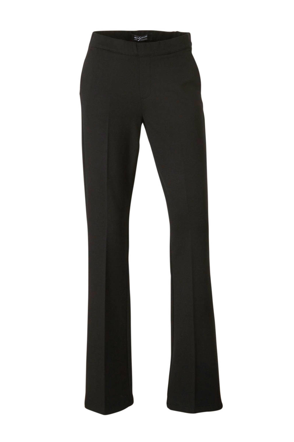 NickJean straight fit pantalon zwart, Zwart