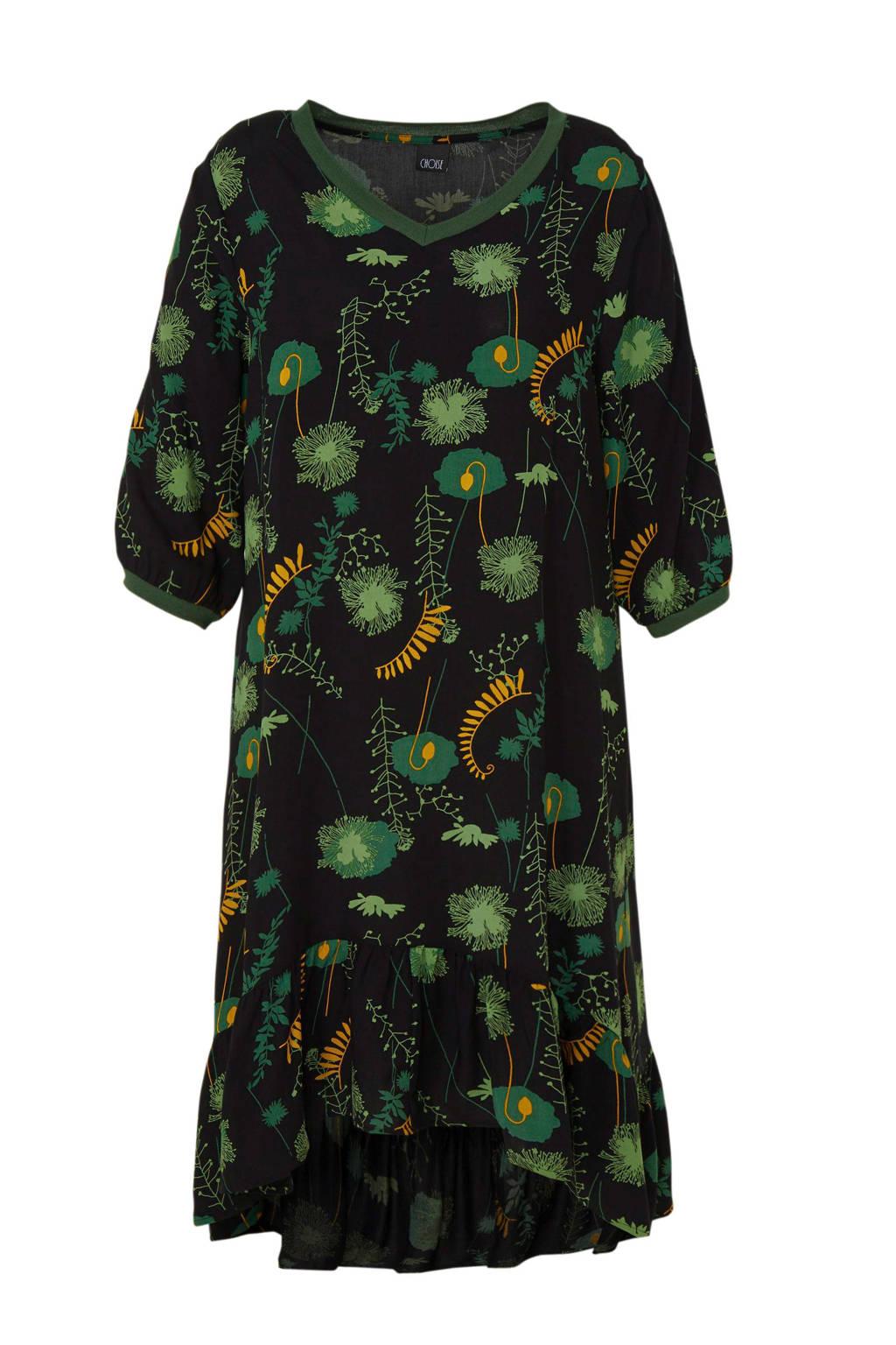 CHOISE jurk met all over print groen, Groen