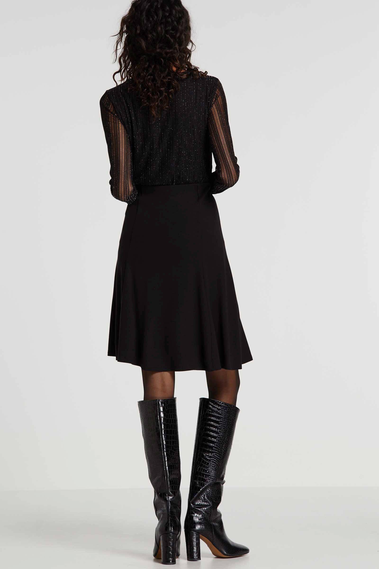 Saint Tropez rok met plooien zwart