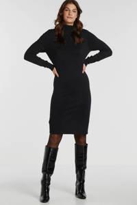 Saint Tropez fijngebreide jurk Mila zwart, Zwart