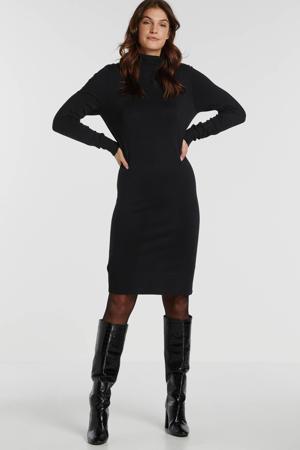 fijngebreide jurk Mila zwart
