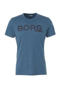 Björn Borg   sport T-shirt blauw melange, Blauw melange/donkerblauw