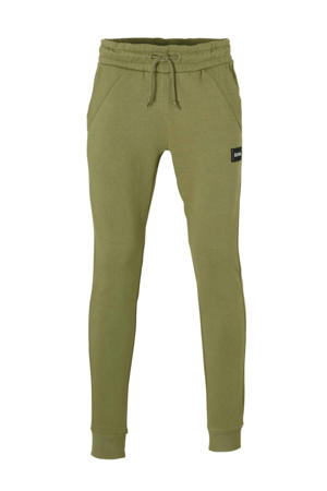 slim fit joggingbroek groen