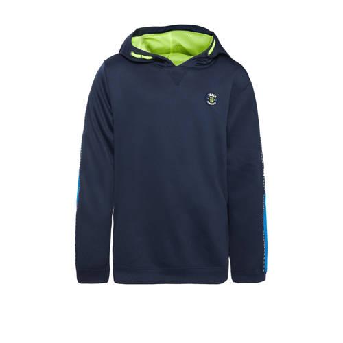 WE Fashion hoodie donkerblauw/groen