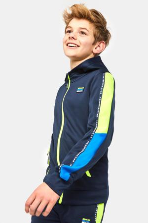 sportvest donkerblauw/groen/blauw