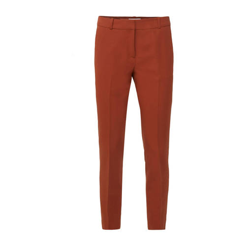 WE Fashion slim fit pantalon rood