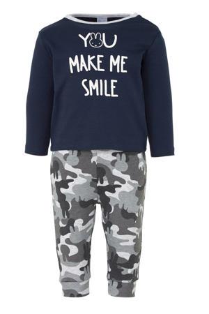 pyjama met tekst Nijntje donkerblauw