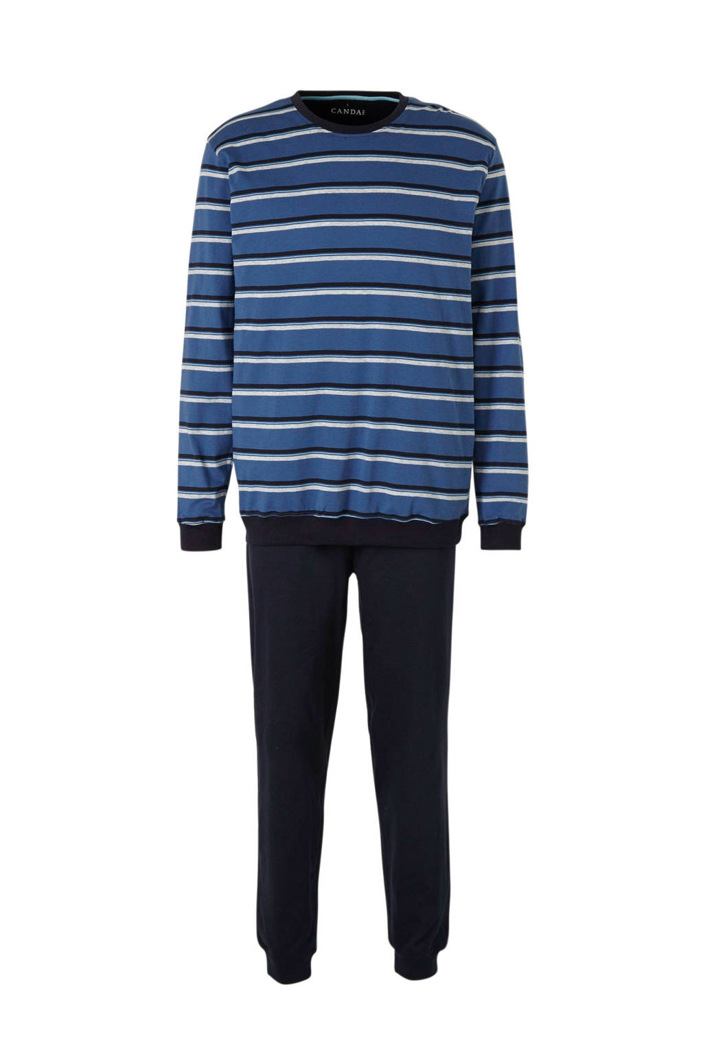 C&A Canda pyjama met streep blauw, Blauw/marine