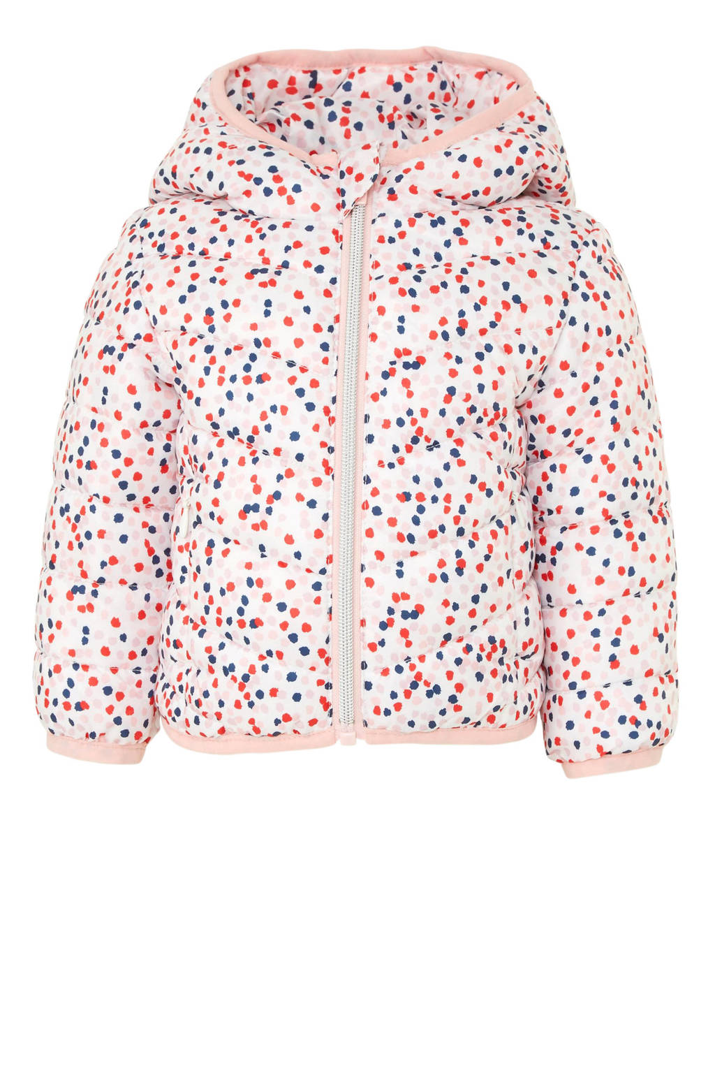 C&A Baby Club tussenjas met all over print roze, Roze/wit