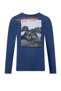 CKS KIDS T-shirt Yotis met printopdruk blauw, Blauw