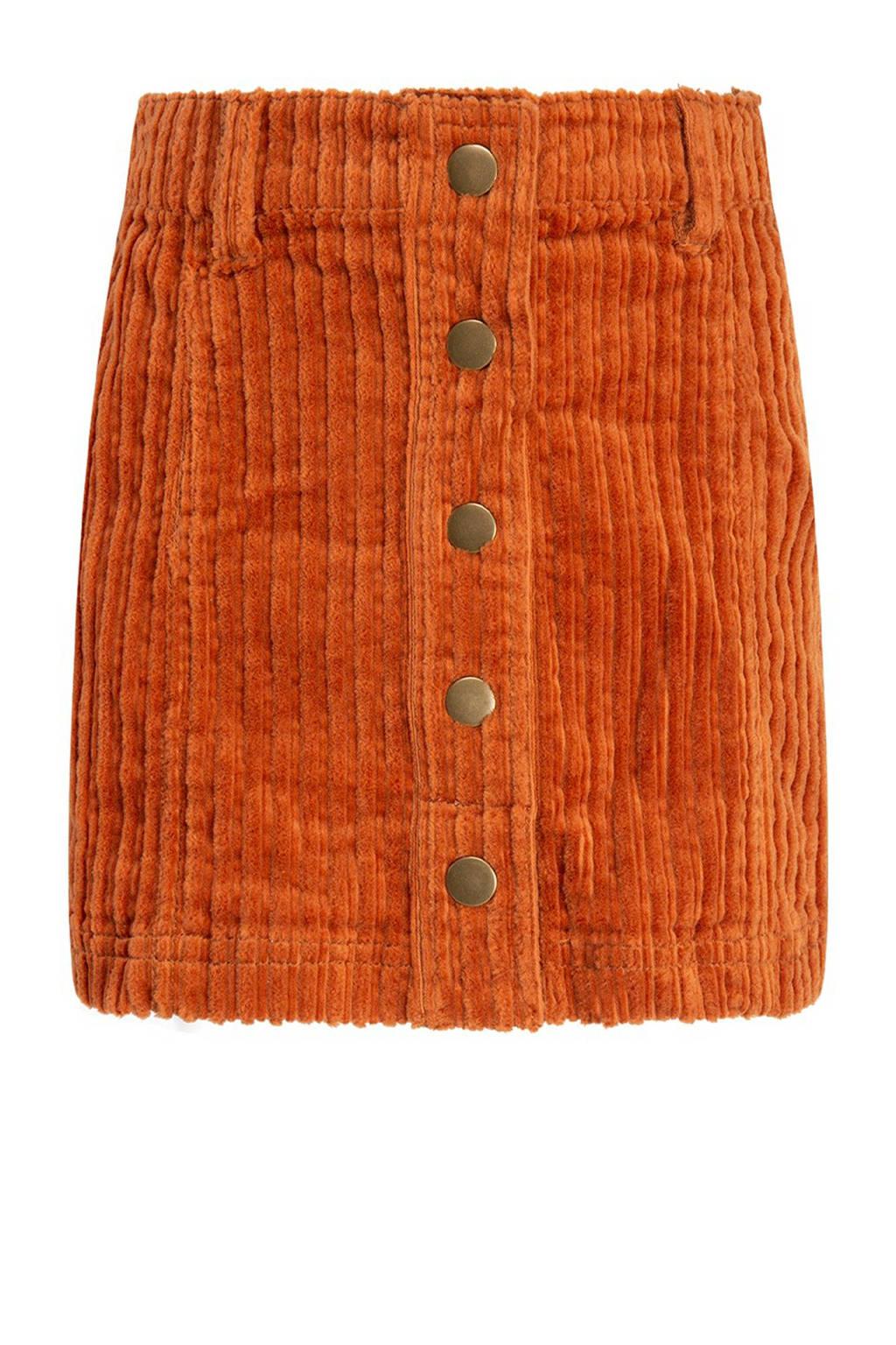 CKS KIDS rok Zuroy met textuur oranje, Oranje
