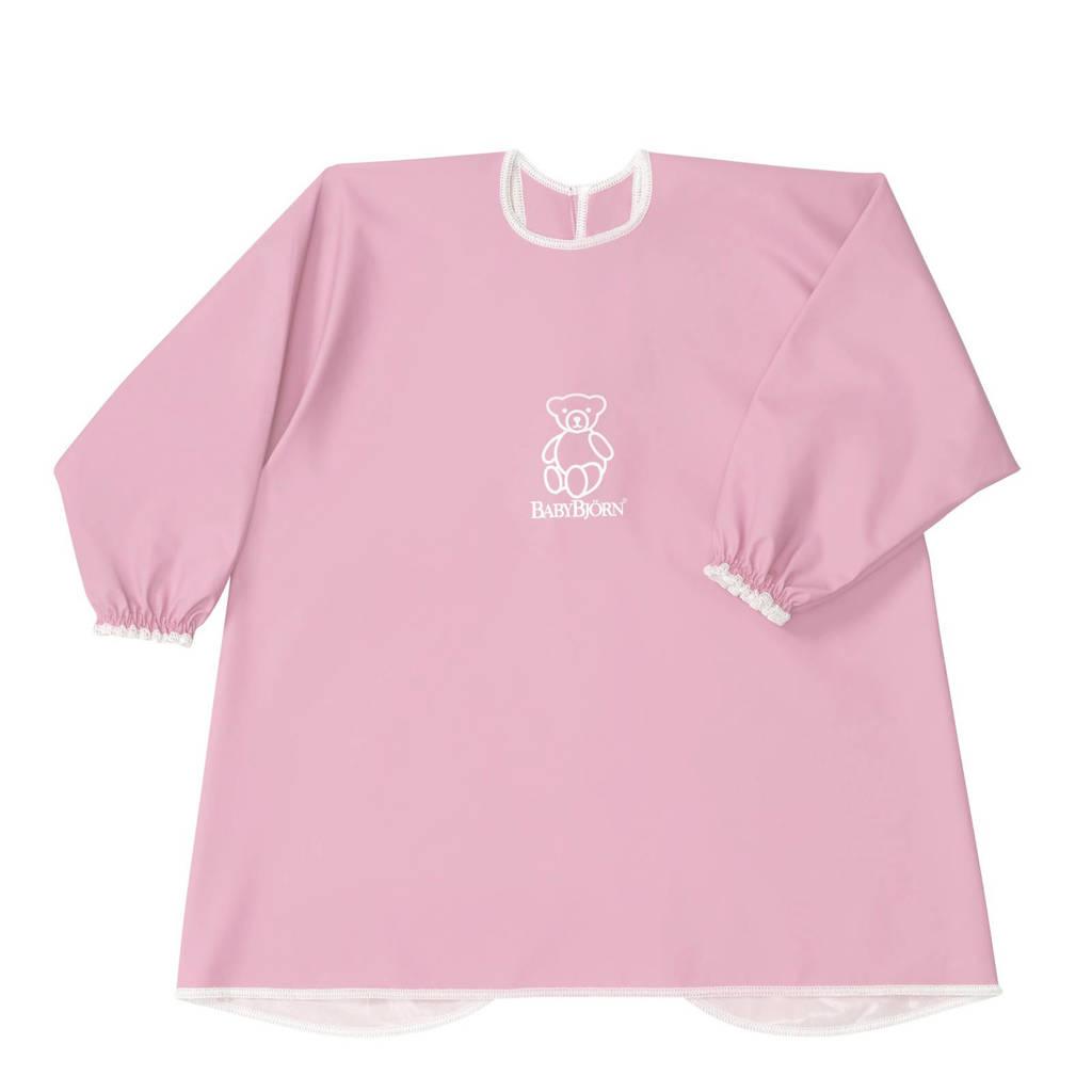 BabyBjörn slab/ kinderschort met lange mouwen roze, Roze