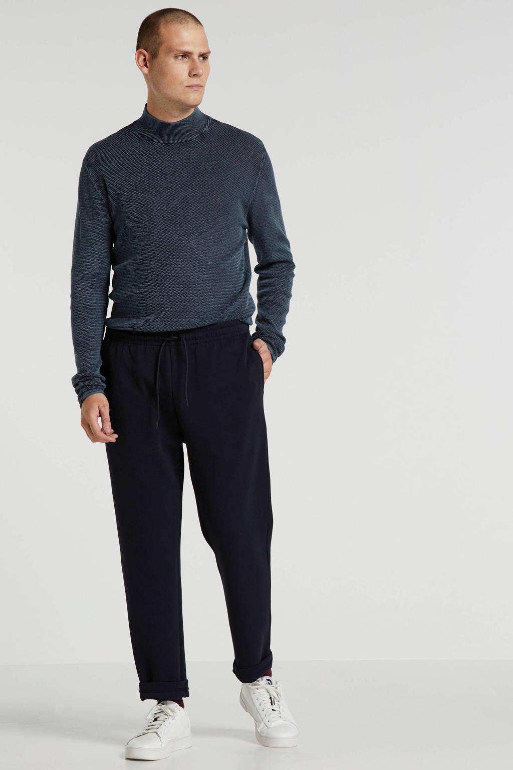Chasin' fijngebreide trui blauw melange
