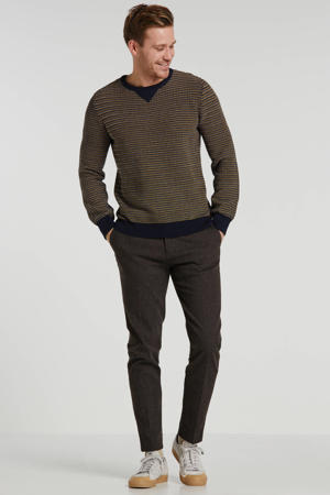 trui donkerblauw/geel