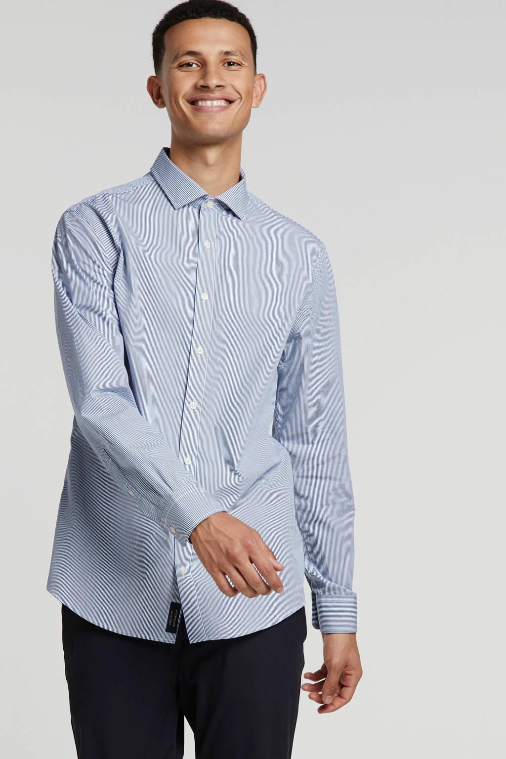 McGregor gestreept regular fit overhemd blauw, Blauw