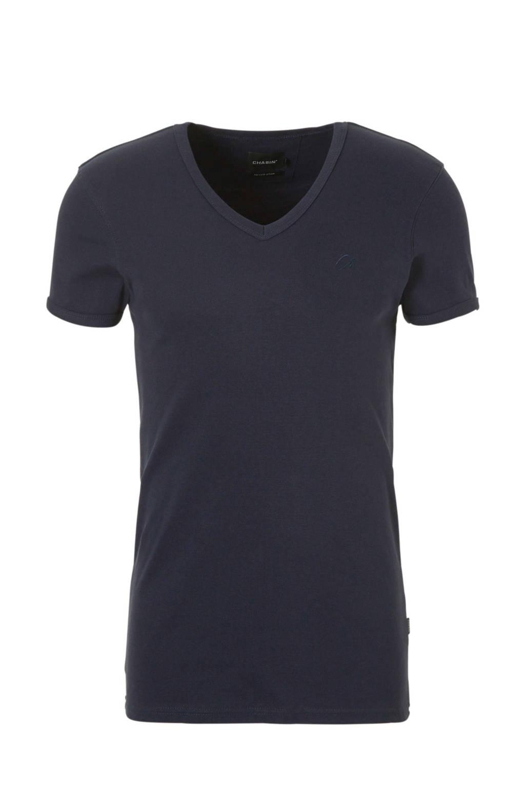 Chasin' slim fit T-shirt marine, Marine