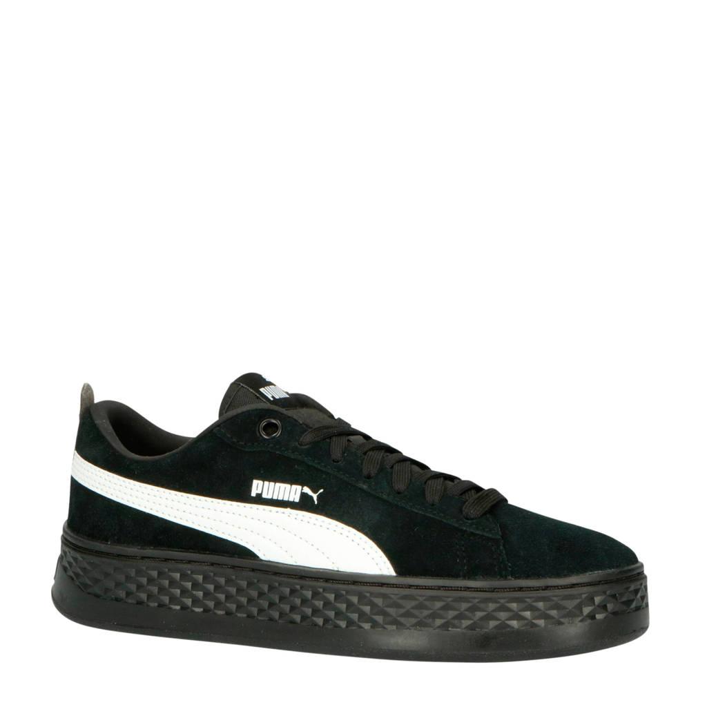 Puma  Smash Platform sneakers zwart/wit, Zwart/wit