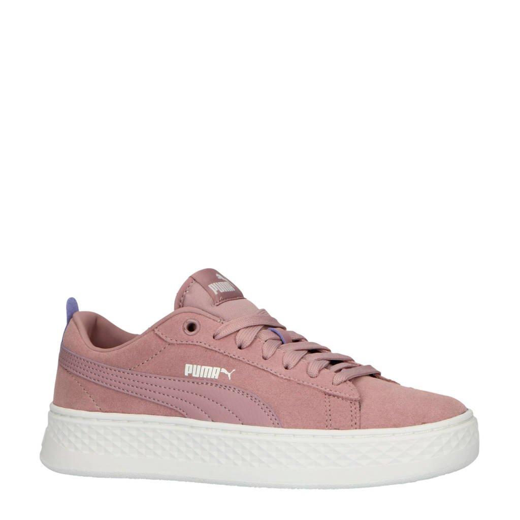 Puma Smash Platform sneakers lila, Lila/wit