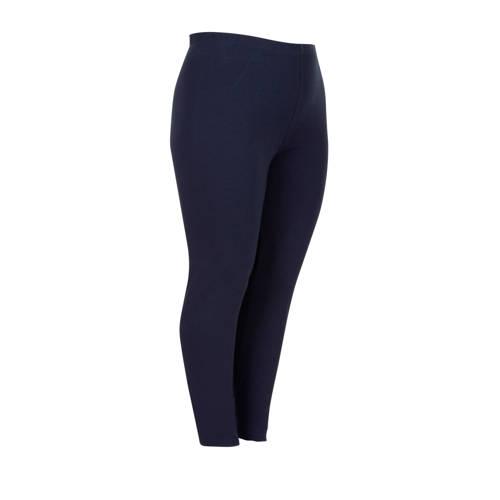 Miss Etam Plus legging met biologisch katoen blauw