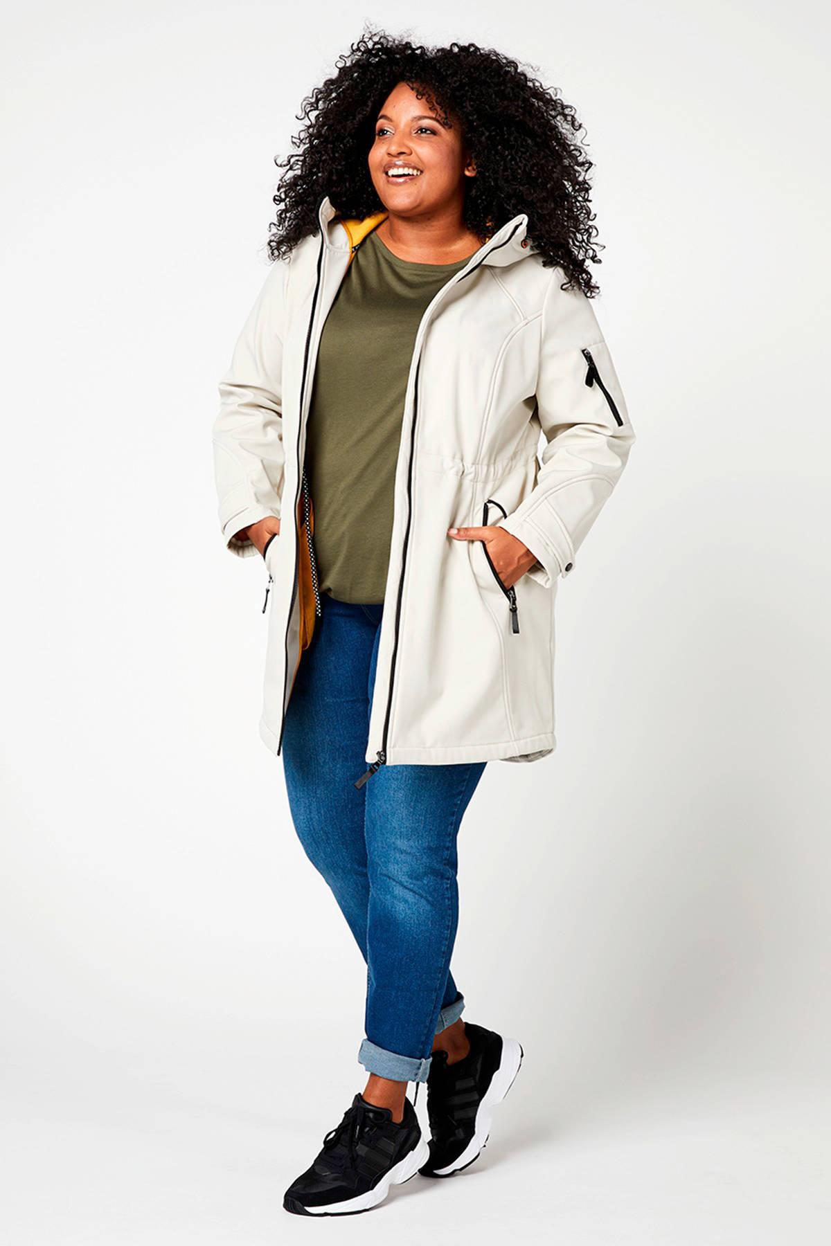 Regulier shoftshell jas wit