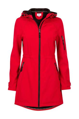 Regulier shoftshell jas rood