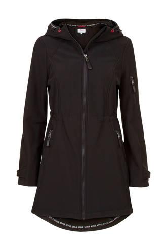 Regulier shoftshell jas zwart
