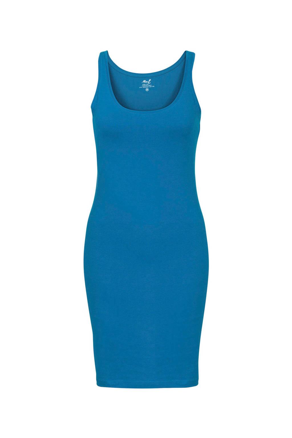 Miss Etam Lang jersey jurk met biologisch katoen blauw, Blauw