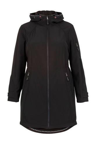 Plus shoftshell jas zwart