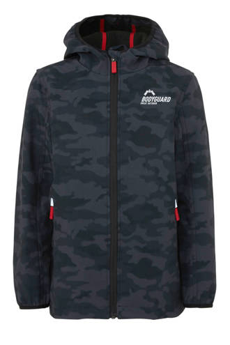 Here & There softshell jas camouflage zwart