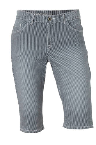 The Denim gestreepte slim fit jeans short