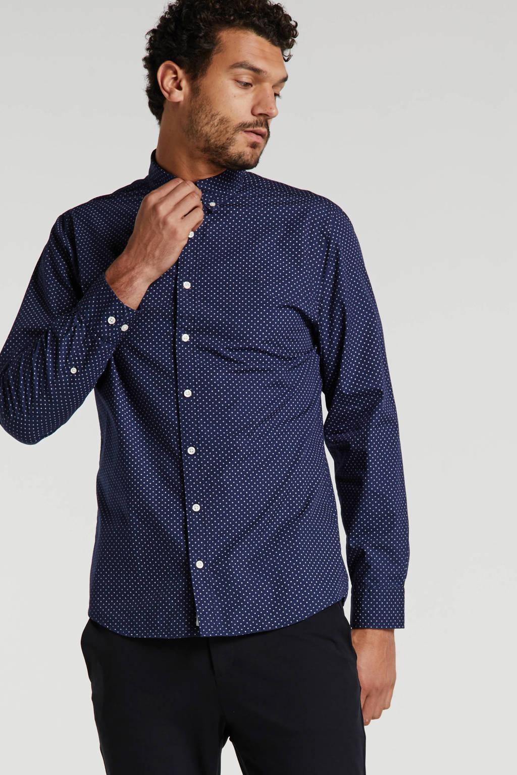 McGregor regular fit overhemd met all over print blauw, Blauw