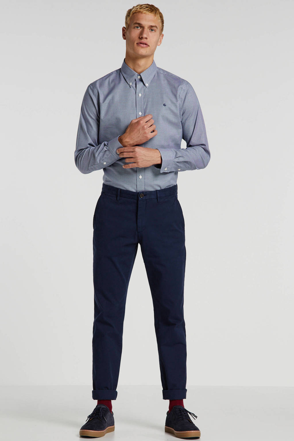 McGregor regular fit chino donkerblauw, Donkerblauw