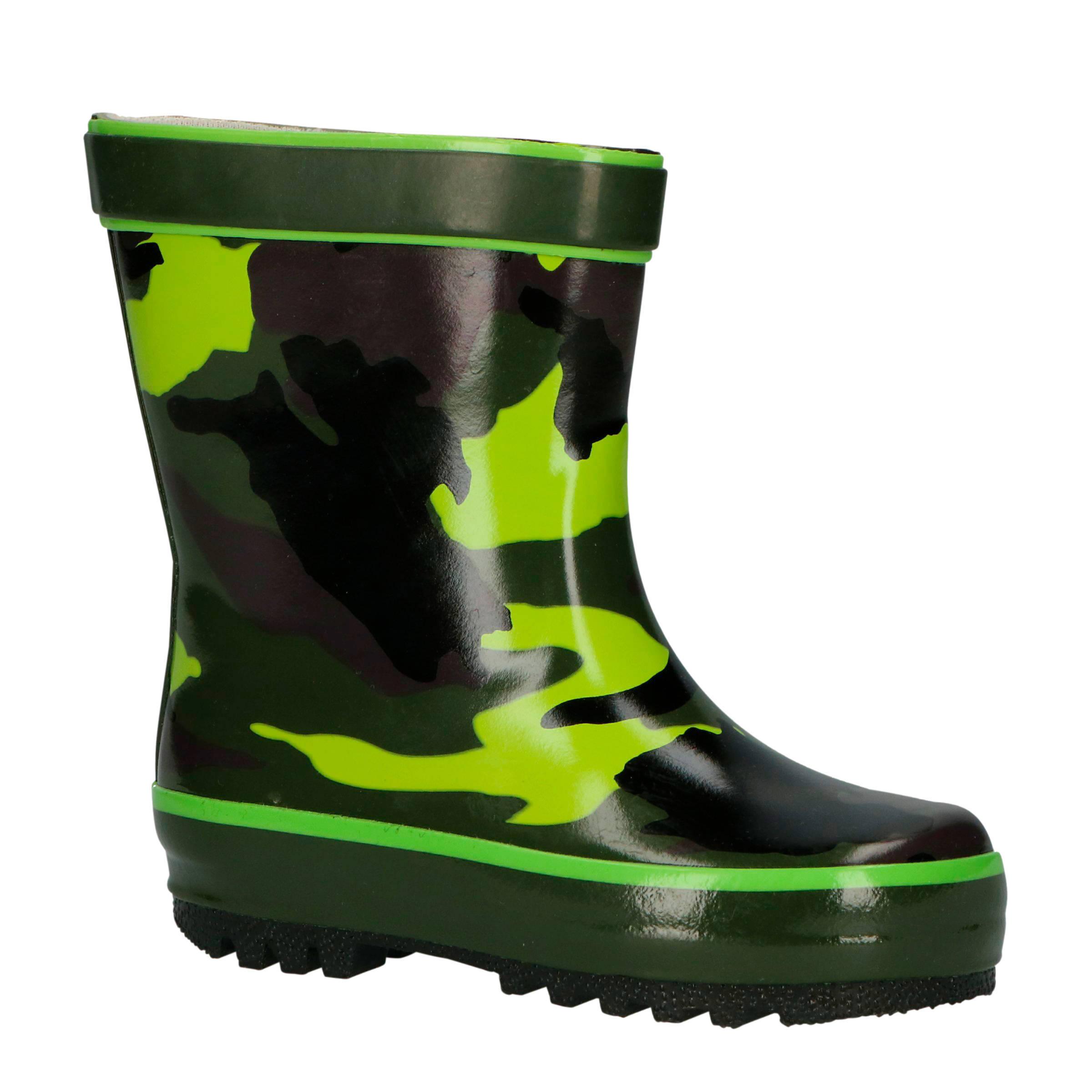 Gevavi Camouflage regenlaarzen groen online kopen