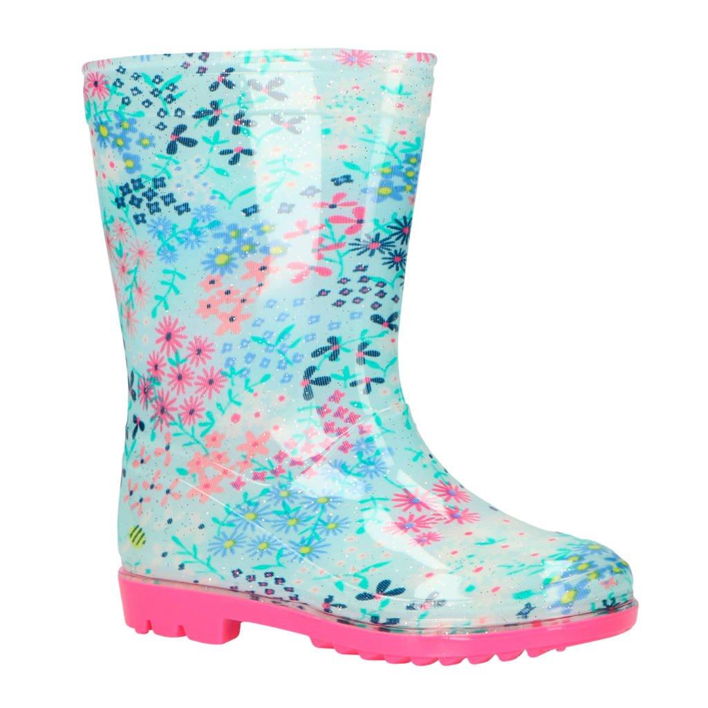 Gevavi   Tess regenlaarzen bloemenprint, Blauw/roze